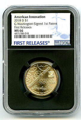 2018 D Washington Patent Ngc Ms66 American Innovation Dollar First Releases