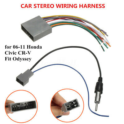 car stereo radio player wiring harness dvd adapter for honda odyssey civic  cr-v