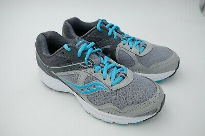 SAUCONY COHESION 10 Running Shoes Women's Grey Blue Size US 7.5 EU 38.5 Used