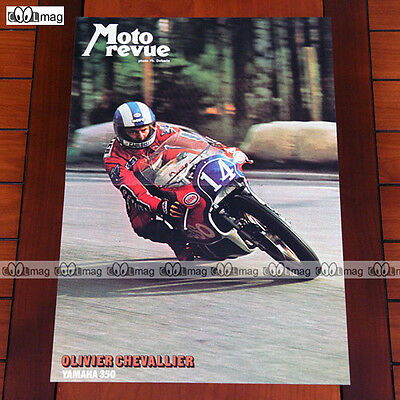 OLIVIER CHEVALLIER sur YAMAHA 350 (1976) - Poster Pilote MOTO #PM171