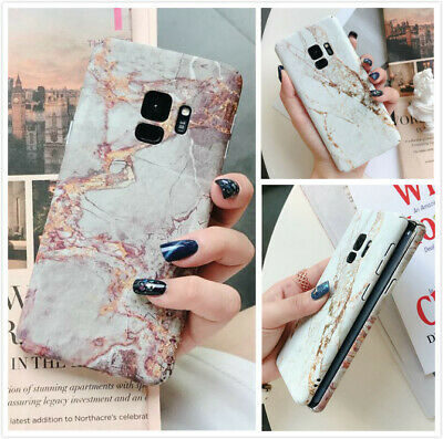 For Samsung Galaxy S10 9 8 Plus Note Slim Fit Marble Case Protective Phone Cover