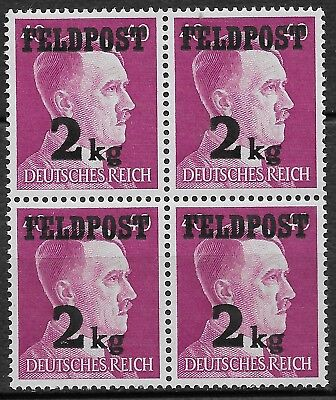 Germany Third Reich Military Fieldpost 1944 Mi #3 Block of 4 MNH **