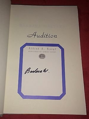 Barbara Walters ABC Evening News 20/20 The View Autograph Signed Audition Book