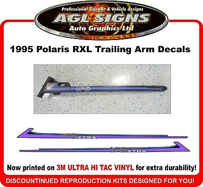 1995 Polaris RXL indy  Reproduction Trailing Arm Decals  1 pair