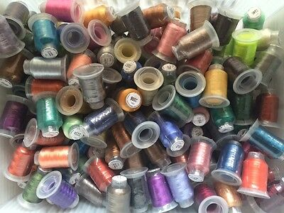 Big Lot of 100 Spools Polyester Embroidery Machine Thread