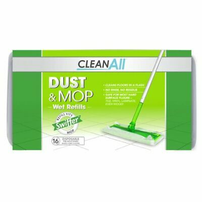 Clean All Dust And Mop Disposable Wet Refills 16 Count