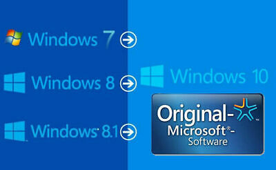 Upgrade your existing Windows 7 & 8 to Win 10 for pro home etc| read description