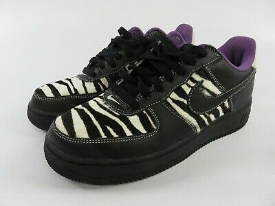 NIKE WOMEN'S SIZE 8 Air Force 1 Athletic Court Shoes with Zebra Pattern WAR