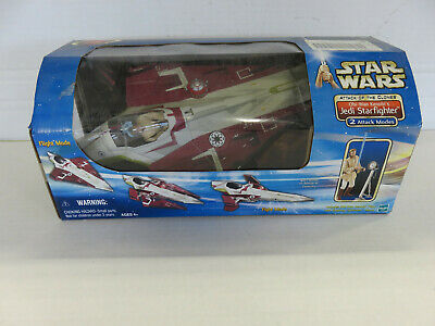 STAR WARS: Attack of the Clones OBI WAN KENOBI'S JEDI STARFIGHTER - Hasbro 2002