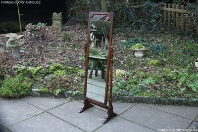 A Titchmarsh And Goodwin Solid Oak Full Length Bedroom Dressing Cheval Mirror