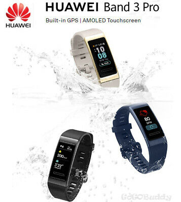 New HUAWEI Band 3 Pro Built-in GPS AMOLED Touchscreen Heart Rate Smart watch XP