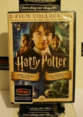 Harry Potter & The Sorcerers Stone/Chamber Of Secrets    New Dvd Free Shipping!!