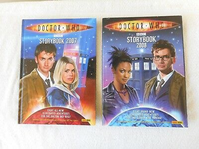 Doctor WHO  Storybook  2007 and 2008 - Hardcover with Dust jacket