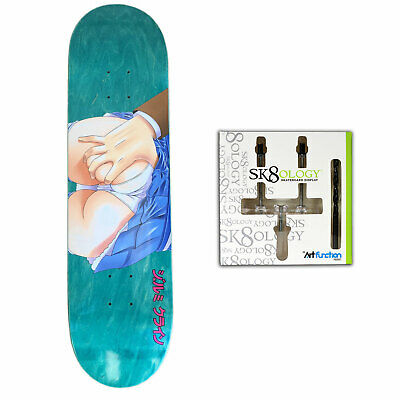 "Hook Ups Skateboard Deck Subway Pervert (Assorted) 8.25"" + Sk8ology Wall Mount"
