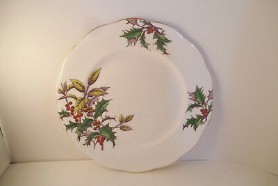 Vintage Royal Albert Bone China England Flower of the Month Holly Salad Plate
