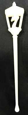 Seagrams 7 Seven Crown Blended Whiskey White Drink Swizzle Stir Stick Vintage