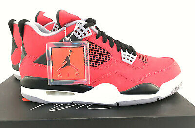 huge selection of 111a5 53383 NEW NIKE AIR Jordan 4 Retro Toro Bravo Fire Red White Black Grey 308497 603  8.5