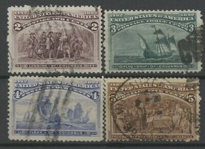 No: 62629 - USA - COLUMBUS - LOT OF 4 OLD STAMPS - USED!!