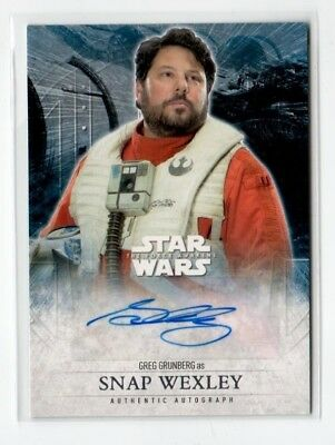 Topps Star Wars Force Awakens Greg Grunberg SNAP WEXLEY auto card