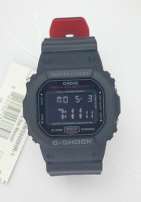 Casio G Shock Dw5600hr 1 Dw5600hr Dw5600 Black Reverse Digital