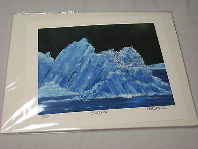 SIGNED Iceberg Ocean Blue Berg Art Print Bette Lu Krause Auntie Captain Lulabell