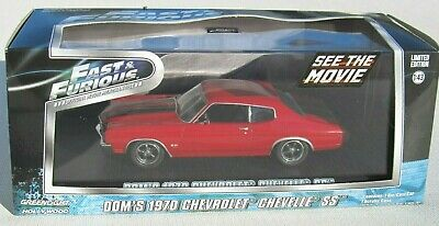 Greenlight Fast & Furious 1:43 Dom's 1970 Chevrolet Chevelle Ss 454