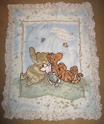 Disney Classic Winnie the Pooh Baby Quilt Comforter Crib Blanket Tigger Piglet