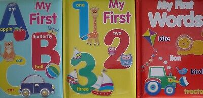 A5 My First ABC and 123 Padded Colourful Picture Educational Early Learning Book