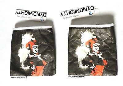 A0090 Lot of 2: DC Harely Quinn Stash Bags by Dynomighty (2015)