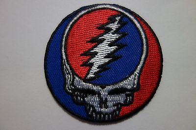 Grateful Dead Steal Your Face   EMBROIDERED  PATCH IRON OR SEW