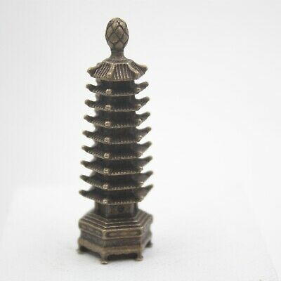 Handmade Craft Solid Copper The Chinese Tower Statue Best Collection