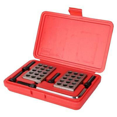 1-2-3 Block Gauge Blocks Matched Milling Machinist 23 Holes with Screws Wrench