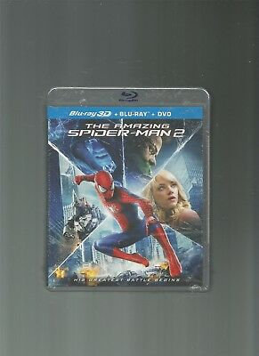 The Amazing Spider-Man 2 (Blu-ray/DVD, 3D, 3-Disc Set) [NEW], DVD