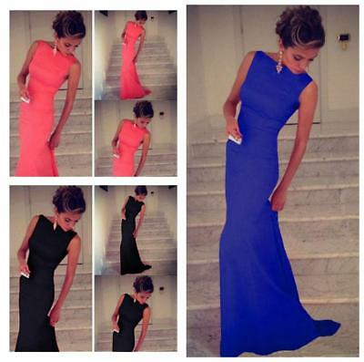 Women Evening Formal Cocktail Party Ball Gown Bridesmaid Maxi Long Dress B