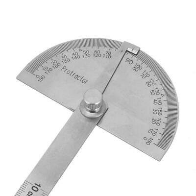 Stainless Steel 180° Durable Protractor Rotary Angle Finder Measuring Ruler