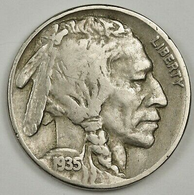 1935 Buffalo Nickel.  Double Die Reverse.  Fine.  135374