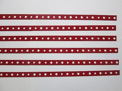 Red Powder coated Steel Mini Strap six pieces two ft. long each.