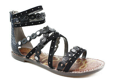 b368c476e380 Sam Edelman Womens Ganesa Black Sandals Size 8.5 (23496)
