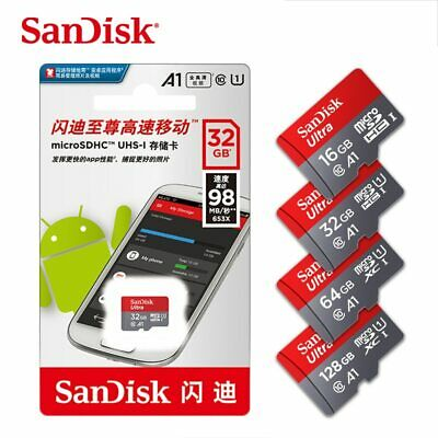 Authentic SanDisk micro SD Card 64GB 32GB 16GB 100mb/s TF usb flash memory card