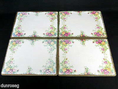 "4 OLD COUNTRY ROSES 28x21cm 11x8"" TABLE / PLACE MATS, ROYAL ALBERT"