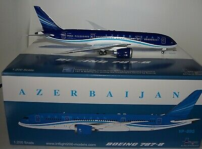 Inflight 200 IF78780917 Boeing 787-8 Azerbaijan Airlines VP-BBS + Stand in 1:200