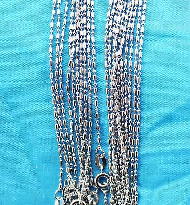 wholesale lots 10pcs  Silver 1.0mm pillars ball Chain Necklace Free shipping LT6