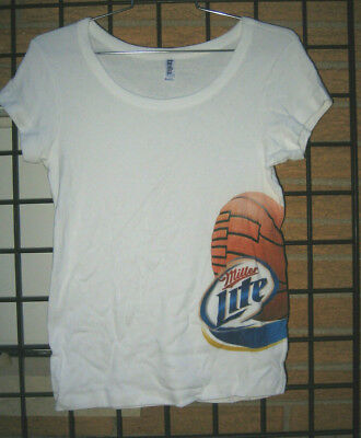 Ladies BELLA  Miller LITE Basketball NCAA Beer T Shirt Top MD march tournament