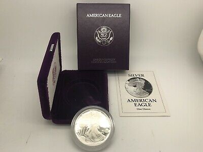 1993 P American Silver Eagle Proof Coin $1 1 Oz OGP Box COA