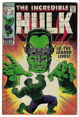 Marvel Comics THE INCREDIBLE HULK Issue 115 Lo, The Leader Lives! VG+