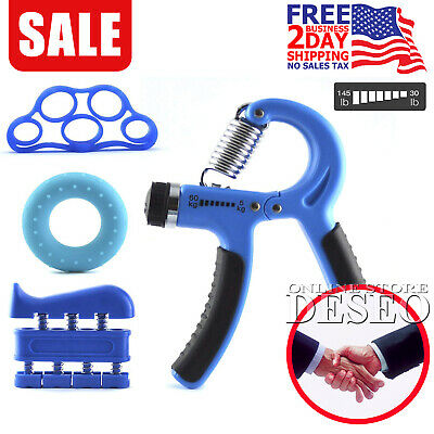 Hand Grip Trainer Gripper Adjustable Strength Exerciser Finger Exercise Therapy