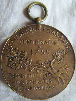Med5089 - Medaille Exposition Universelle 1889 - Centenaire 1789