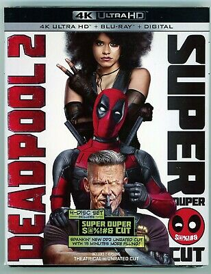 Deadpool 2 (4K Ultra HD + Blu-ray + Digital, 2018) NEW with slipcover!