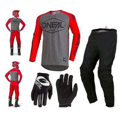 Oneal Hexx Combo 2019 rot Enduro Crosshose MX Jersey Handschuhe