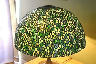 "Antique Leaded Glass 22 1/2"" Table Lamp Shade Wilkinson No Base"